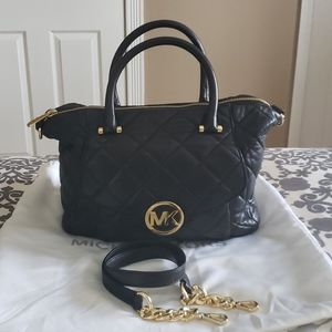 Michael Kors Large Quilted Leather Satchel